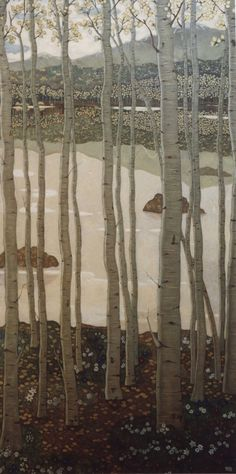 Xi Pan (Chinese). Aspen, 2001. Oil on canvas.