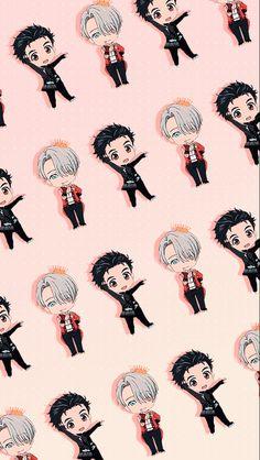 Yūri x Victor / Yuri! on Ice Yuri!!! On Ice, Ice T, Otaku, Mobile Wallpaper, Yuri On Ice Fondos, Animes Wallpapers, Cute Wallpapers, Iphone Wallpapers, Manga Anime