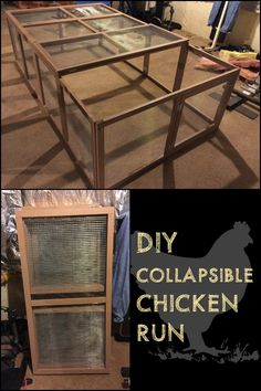 Would you like a chicken run or pen that you can 'store' when you don't need it? Why not build a collapsible chicken run!