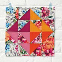 Quilt Block - Amy Butler Hapi Origami Square