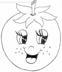 Fruit Coloring Pages, Fall Coloring Pages, Coloring Sheets, Coloring Books, Fruit Crafts, Disney Colors, Cartoon Sketches, Hand Embroidery Designs, Applique Patterns