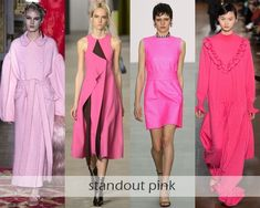 Clothing Colors Fall-Winter 2016-2017 Fashion Trends : eye-catching pink shades