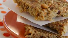 Banana oat energy bars with peanuts, carrots, and apples are a great pre- or post-workout snack or on-the-go energy booster.