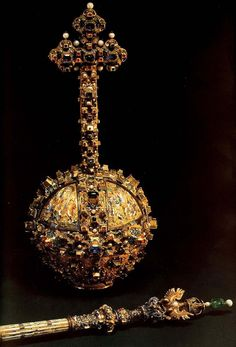 Romanian orb and scepter Royal Crowns, Tiaras And Crowns, Globus Cruciger, Art Tumblr, Russian Culture, Royal Jewelry, Jewellery, Circlet, Fantasy Jewelry