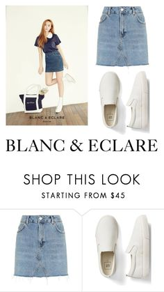 """Blanc & Eclare"" by dreamhigh426 on Polyvore featuring Topshop and Gap"