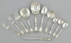 """A Sterling Silver Dinner Service for Twelve in """"King Richard"""" Pattern by Towle"""