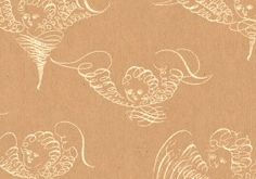 Geschenkpapier aus Original-Skizzenbüchern Goldene Engel auf Packpapier. Die Federzeichnungen sind aus dem Original-Skizzenbuch des berühmten britischen Kalligraphen John Seddon, um 1700.