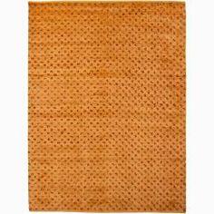 Handwoven Orange/Red Mandara New Zealand Wool Rug (2'6 x 7'6)