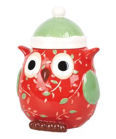 Take a look at this Holiday Owl Cookie Jar by Transpac Imports on #zulily today!