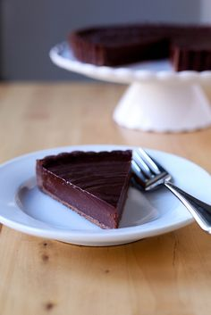 If I baked, I would definitely make this. I'm pinning it here for those of you who ARE bakers. (chocolate truffle tart by annieseats)
