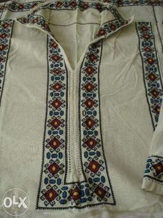 Handmade traditional men shirt, Arges County, Romania, Camasa barbateasca costum popular Pitesti - imagine 2