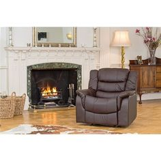 The Furniture Collection - Verona Bonded Leather Rise and Recliner Chair with Heat and Massage (359172) | Ideal World