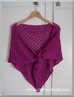 Virka en sjal. Länk till gratis mönster.