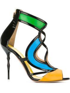 Francesca Mambrini sandales colour block