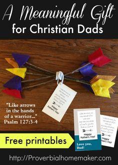 Celebrate Dad with a fun arrow craft, Psalm 127, a custom t-shirt and fun card!