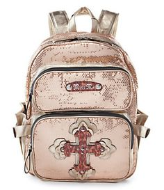 9160f2f8d8d0 Miss Me Back to Cool Sequin Chevron Print Backpack