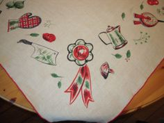 Vintage BBQ Tablecloth Charcoal Cows & 1st by unclebunkstrunk, $99.99