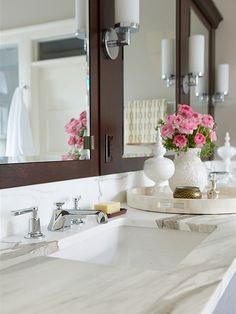 Keep pesky clutter from taking over your bathroom counter with this simple fix: http://www.bhg.com/bathroom/storage/storage-solutions/declutter-your-bathroom/?socsrc=bhgpin021915giveyourcountersomezen&page=10