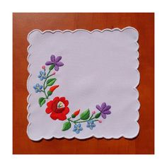 This item is a beautiful hand embroidered Kalocsa doily. Its size is 17 cm x 17 cm inch x inch). The embroidery has a traditional Hungarian Tambour Embroidery, Hungarian Embroidery, Embroidery Stitches, Hand Embroidery, Machine Embroidery, Embroidery Suits Design, Embroidery Designs, Flower Art, Needlework