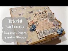 Tutorial: Cómo hacer una caja para guardar álbumes / Cartonaje - YouTube