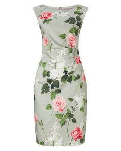 Phase Eight Meadow Print Dress Green