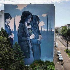 Street Art (@GoogleStreetArt) Remarkable new Street Art by Bezt Etam found in Mannheim Germany