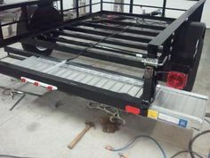utility trailer hidden ramps: A utility trailer build: 6' - 4 x 10', 3500 pounds. I just bought a Millermatic 211 mig welder and needed a project to try out the machine. Seeing I