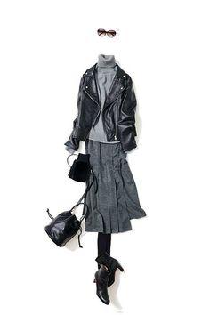 コーディネート一覧 / Kyoko Kikuchi's Closet|菊池京子のクローゼット Tomboy Outfits, Tomboy Fashion, Mode Outfits, Girl Fashion, Fashion Outfits, Womens Fashion, Fashion Pics, Winter Wear, Autumn Winter Fashion