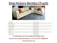 King Hickory Bentley Sectional with a Track Arm and Modern Leg.  You Choose the Fabric or Leather - You Choose the Pieces to Fit Your Room.