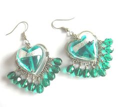 Valentine Aqua and silver venetian glass heart and by ardorfire, $26.00