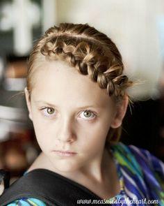 pulled braid headband tutorial Box Braids Hairstyles, Hairstyles Haircuts, Hairstyles With Bangs, Wedding Hairstyles, Hairstyle Men, Formal Hairstyles, Braid Headband Tutorial, Braid Hairband, Braid Bangs