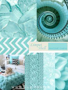 Третий оттенок синего в коллекции модных цветов Весна-Лето 2016 Института Цвета Pantone – это цвет Limpet Shell (Pantone 13-4810), название которого можно перевести как Раковина моллюска....