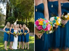 these bouquets are amazing    Outdoor Modern Wedding: Shannon + Bill