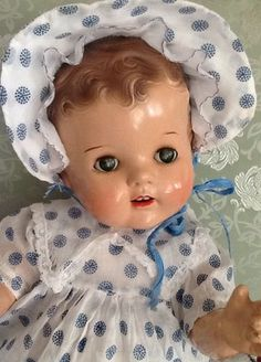 composition doll, 1940's.,