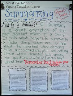Super easy writing summaries lessons and ideas!