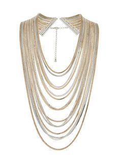 Shop for Chain mixed metal necklace by Ribbon & Asher at ShopStyle. Necklace Price, Collar Necklace, Jewelry Accessories, Fashion Accessories, Fashion Jewelry, Mixed Metal Jewelry, Metal Jewellery, Mixed Metals, Bling