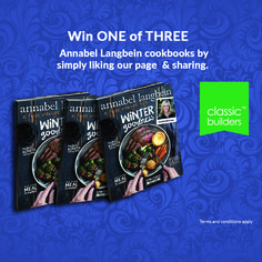 Join us on Facebook to win one of three Annabel Langbein's Winter Goodness Cookbooks NOW!  All you have to do is go to www.facebook.com/classicbuildersnz and like our Facebook page and share this post. Competition ends 16 August 2015. T & C Apply.  #ClassicBuilders 16 August, Meal Planner, Competition, Join, How To Apply, Good Things, Facebook, Classic, Winter