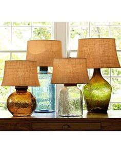 Pottery Barn - Clift Glass Table Lamp Clift Glass Table Lamp