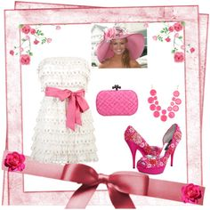 Fashion Ensemble: Kentucky Derby in Pink, created by jennscalligraphy on Polyvore