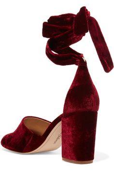 Sam Edelman - Odele Velvet Sandals - Burgundy - US10.5