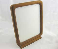 Vintage TEAK Picture Frame PHOTO FRAME. Danish Modern Denmark Dansk Era. Mid Century 60s. Wood Picture Frames, Stand Tall, Joinery, Picture Photo, Teak, Scandinavian, Mirror, Glass, Vintage