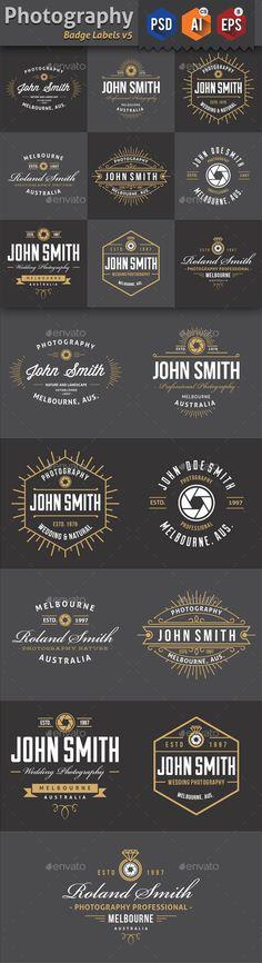 Photography Badge Labels Template #labels #badge Download: http://graphicriver.net/item/photography-badge-labels-v5/11585127?ref=ksioks
