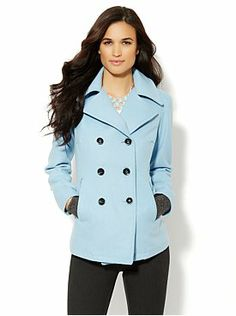 Wool-Blend Peacoat from New York & Company