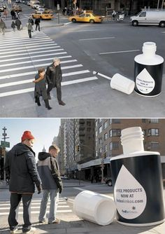 Fedex whiteout  cross walk ad