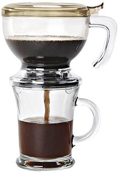 Pour over coffee.  Recommended by America's Test Kitchen.  Zevro IAB109 Incred 'a Brew-Direct Immersion Brewing System for Coffee ZevrO