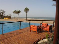 beautiful view on the sea from the 5 stars Royal Lodge  in Sine Saloum region #Senegal