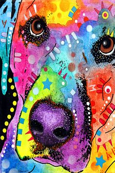 Closeup Labrador - Canvas Print by Dean Russo