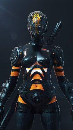 Cyberpunk Girl, Cyberpunk Character, Cyberpunk 2077, Character Art, Character Design, Cyberpunk Aesthetic, Arte Robot, Robot Concept Art, Futuristic Art