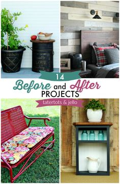 Before and afters are my favorite!! It always inspires me seeing beautifully retrofitted and upcycled furniture and spaces!