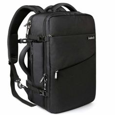 Travel Backpack Flight Approved Carry-On Luggage Backpack Anti-Theft Laptop Rucksack Large Daypack Weekender Bag for 17 Laptop - Black Care Bags Shoes-Jewelry Gear Backpacks Shoes-Jewelry Gear Packs Hand Luggage, Carry On Luggage, Luggage Sets, Luggage Backpack, Large Luggage, Travel Luggage, Laptop Rucksack, Rucksack Bag, Best Travel Backpack